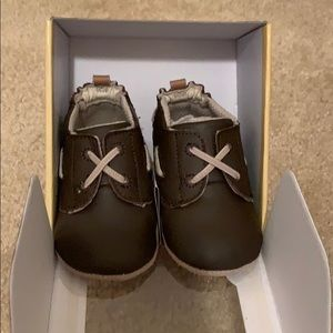 """Robeez brown leather """"Jon Loafer"""" infant shoes"""